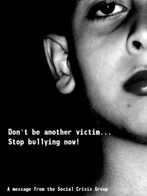 Poster (PSA) Advertisement for bullying prevention
