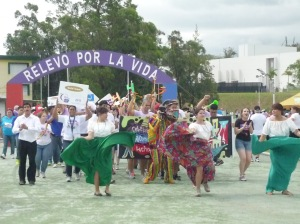 "The student's organization SHPE-UPRM in the parade. The theme of their tent was ""Las Fiestas de la Calle San Sebastian"".The student's organization SHPE-UPRM in the parade. The theme of their tent was ""Las Fiestas de la Calle San Sebastian""."