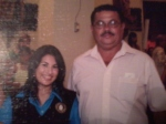 """Jorge and Valeria (niece) at her graduation mass. She is really proud of him."""