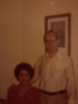 """Jorge L. Pitre and Father Omar in the Church.  Jorge was in the seminary."""
