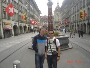 Alejandro Carlo (left side) in Switzerland.  One of many fascinating places he had the opportunity to visit while working on his COOP in the summer of 2012.