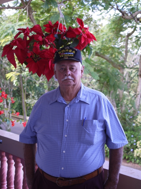 An old but still strong Jesus Caraballo, a life worth of memories and still a proud soldier.
