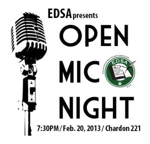 EDSA Open Mic. flyer