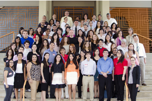 Group of students who participated in the second annual undergraduate research symposium.
