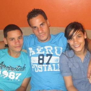 Estefani with two of her brothers. Joel (left) and Lucas (middle).