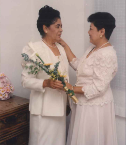 Juanita (left) and her daughter Andrea (right)