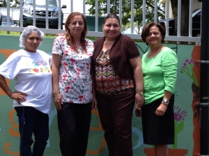 From left to right: Felipa Ayala, Yolanda Santariz, Lillian Cruz and Lidia Méndez