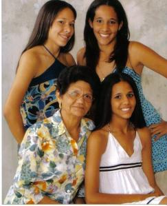 Catalina and her granddaughters.