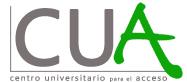 CUA's (Centro Universitario para el Acceso's) logo.