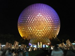 Picture taken by Minerva Santiago of Spaceship Earth in Epcot Center in Orlando, Florida.
