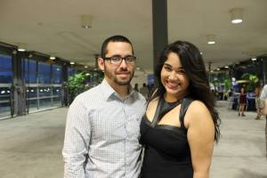 Students Mei Lanie Acevedo and Dennys Garcia attending the AIESEC Awards and Recognition Gala held at the Mezani bulding at UPRM campus. AIESEC is a student organization that is formed mainly by students from the Business Administration department. It focuses on developing leadership through cultural exchanges and its team member program.