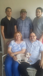 Juan Aleman, his wife Edna Pacheco and their children Diego, Juan Manuel and Enrique sharing as a family on mother's day at their house in Ponce. When their children were little they used to live in Peñuelas but moved to Ponce in search for a better home. Today all of their children are adults who study and work but they all live in the same house.