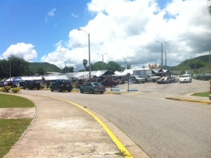 "The ""Mega"" flea market of Guayanilla with open stores every Sunday  noon in front of the sports complex. For 10 years this flea market has been the only thing closest to a shopping mall and has provided many products from cell phones to other household items. Each Sunday there are less shops and visitors due to the change in the economy."