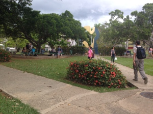 "The ""Serpentinata Caribeña"" serves as an epicenter for students at the  UPRM campus to  gather, take a break from class, see their friends or do their homework. The sculpture is strategically located  between most of the buildings, such as the library, the students´ center, and the Chardón building, among others."