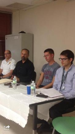 The press conference panelists: Jorge Barbosa, Jesiel Díaz, Carlos Marrero, and Guatavo Cortina. (left to right)