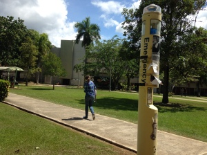 The university had installed totems to improve security measures, but because of lack of maintenance these strategies failed to work.