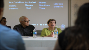 Rafael Moura and Marta Martínez formed part of the group of four panelists who attended the press conference to discuss the health crisis in Puerto Rico. The conference took place in the Carlos Chardón Building at the University of Puerto Rico- Mayagüez.