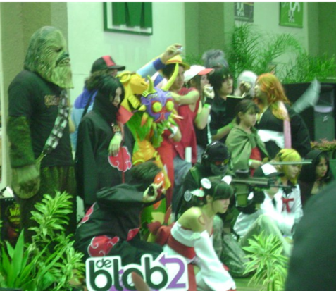 A group of cosplayers pose for a picture at an convention held at University of Puerto Rico in Mayaguez. Over the years many fanatics have chosen to dress up as their favorite characters in an attempt at emulating them. Comic cons, as they are called, are regularly held in many places across the island and they embrace the gaming culture as it rises up as a big source of entertainment.