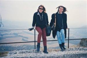 María is on the right and Alessandra is on the left, this picture was taken when they where studying in Switzerland.