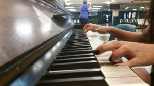 "Playing the piano in the Student Center Building I found Andrea Carolina Soto, 19, the piano is her passion it is much more than just music to her. She  learned to play the piano when she was nine years old.  ""Ever since I play the piano is like I'm in another world,  it makes my mind drift away."""