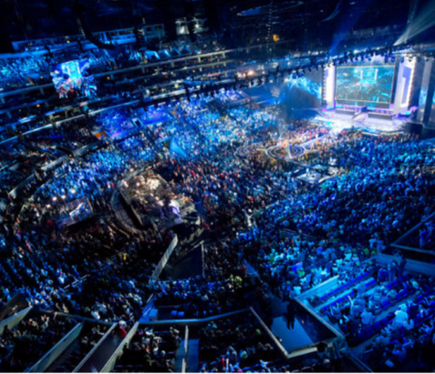 The 2014 World championship held at the Seoul's World Cup Stadium in Korea. According to the oficial numbers released from Riot Games, over 40,000 people assisted the stadium and over 27 millions of people simultaneously watched the final game around the world. The total prize pool for the winners summed $2,000,000. Image courtesy of Nick Wingfield for The New York Times