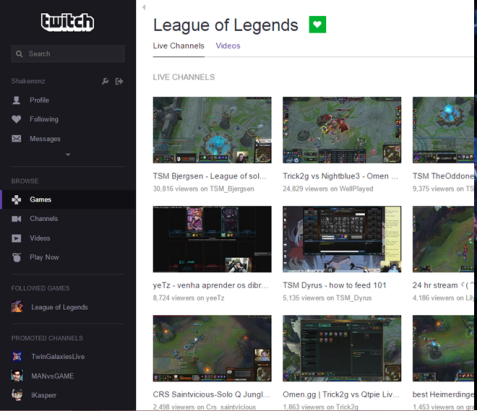 """Video-streaming platform twitch.tv allows players to broadcast their games online. Twitch was bought by Amazon in 2014 for $970 millions and is one of the most frequented sites on the internet. According to Forbes, """"it is possible to choose streaming and gaming as a lifelong vocation and earn over $300,000 a year."""""""