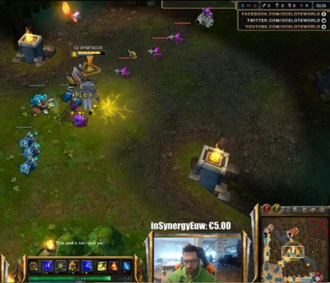 """Carlos Rodríguez, professional player and streamer, broadcasts one of his games on twitch.tv. Rodríguez made almost $1,000,000 in one year. According to GameStop, """"he stated that the amount is made up of a combination of tournament winnings, merchandising income, salary, live streaming games, and personal sponsors."""""""