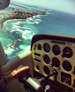 A flight school student flies a small single-engine airplane over Old San Juan just after take-off. Finding a hobby and dedicating time to it keeps you continuously learning new things while having a good time. Hobbies can passively contribute to your intellectual and emotional health.