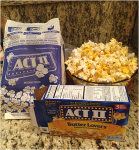 A microwavable pack of popcorn out of the microwave and served to be eaten. Recognized for the simplicity of making this salty snack, it contains a health secret hardly known. The wrapper contains harmful chemicals perfluorooctanic acid which makes the non stick lining,  but when heated the reaction can be related to cancer and infertility.