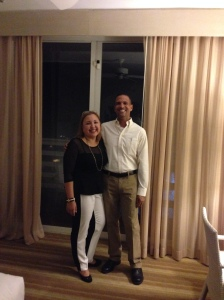 """Arlin Madera accompanied by her husband at the hotel """"El Conquistador"""" in Fajardo, Puerto Rico on August 2014."""