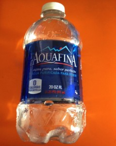 Aquafina is a bottle water that is found in supermarkets, restaurants, bending machines and other places.  A century ago, Pepsi Cola Company launched the branch of Aquafina. Drinking water every day helps maintain the balance of body fluids, keeps skin looking good, it helps energize muscles and maintain a normal bowel function.