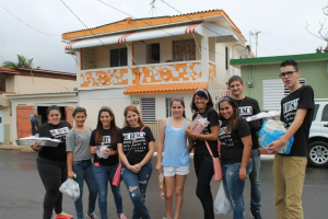"Part of the group of teens that took a step closer to making a difference that Saturday morning in Camuy. Even though it did rain they kept on giving these people help and letting them know that even if it's a small group that still know they are there they have someone. ""Each one of us can make a difference. Together we make change""."