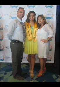 Carlos at the high school graduation of his daughter, Karla Yancy (courtesy of Carlos Yancy)
