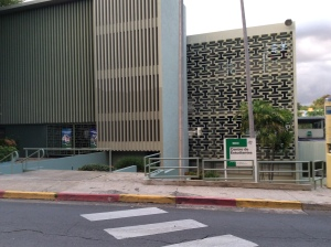 Centro de Estudiantes at the University of Puerto Rico at Mayagüez on a Sunday afternoon. Crowded places like the Centro are a health risk for people. Here, diseases like influenza can be transmitted easily due to the high amount of people. Contagious diseases can be transmitted at a distance of six feet.