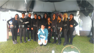 Tania as captain in her big event: Relay for Life