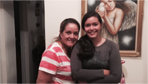"Carmen Luisa Vazquez, 58; and Frances Cosme, 14 members of Cosme-Vázquez family. Frances is the youngest grandchild of the family and therefore is protected and pampered  by all her cousins. ""For me, Thanksgiving dinner is the perfect moment to be grateful with God for all the opportunities and blessings that he has given us through all the year, ""said Carmen."